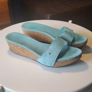 Ugg Basil cork slide on wedge sandals